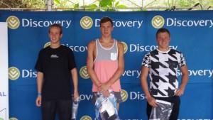 Winners of the 3000m race. Ockert 1st, Brandon 2nd, Ude 3rd